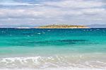 Looking out to Refuge Island from Hazards Beach, Freycinet National Park, Coles Bay, Tasmania, Australia