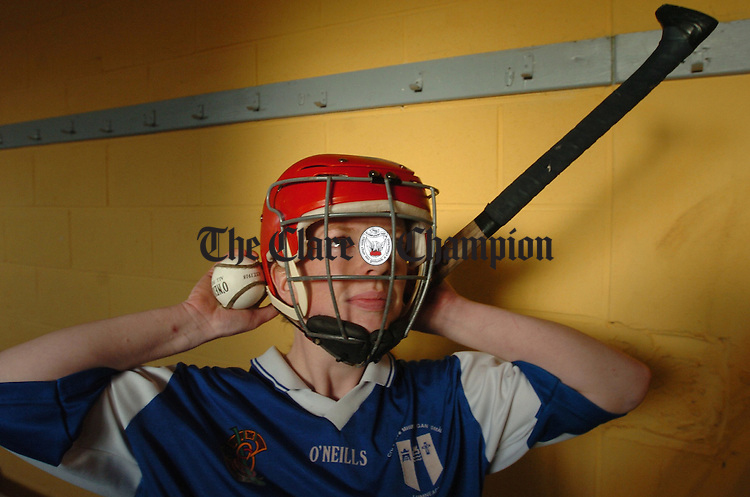 Clare camogie captain Deirdre Murphy prepares for training last week in Crusheen. Photograph by John Kelly.