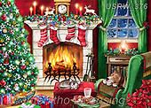 Randy, CHRISTMAS LANDSCAPES, WEIHNACHTEN WINTERLANDSCHAFTEN, NAVIDAD PAISAJES DE INVIERNO, paintings+++++,USRW376,#xl#,chimney,fire,