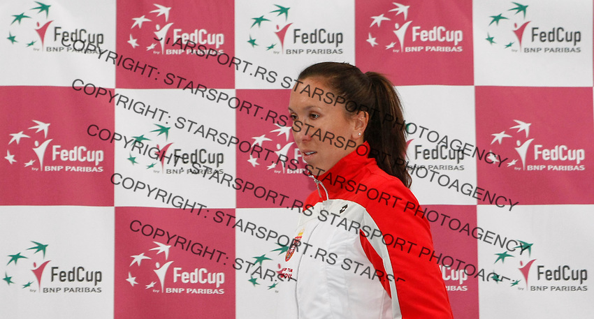 Tenis, Fed Cup 2011, play-off for group A.Slovakia Vs. Serbia, Official Draw.Jelena Jankovic. Bratislava, 15.04.2011..foto: Srdjan Stevanovic/Starsportphoto ©