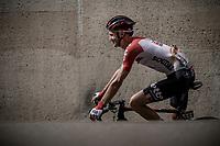 Tim Wellens (BEL/Lotto Soudal) pre race. <br /> <br /> Binckbank Tour 2018 (UCI World Tour)<br /> Stage 6: Riemst (BE) - Sittard-Geleen (NL) 182,2km