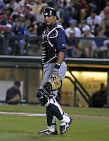 March 26, 2004:  Catcher Victor Martinez of the Cleveland Indians organization during Spring Training at Wide World of Sports in Orlando, FL.  Photo copyright Mike Janes/Four Seam Images