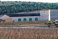 Domaine Gerard Bertrand, Chateau l'Hospitalet. La Clape. Languedoc. The main building. The vineyard. France. Europe.