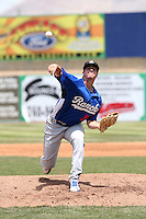 Andrew Sopko (30) of the Rancho Cucamonga Quakes pitches against the High Desert Mavericks at Heritage Field on May 8, 2016 in Adelanto, California. Rancho Cucamonga defeated High Desert, 11-5. (Larry Goren/Four Seam Images)