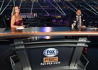ARLINGTON, TX - DECEMBER 5: Kate Abdo and Shawn Porter on Fox Sports PBC Pay-Per-View fight night at AT&T Stadium in Arlington, Texas on December 5, 2020. (Photo by Frank Micelotta/Fox Sports)