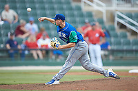 Lexington Legends starting pitcher Charlie Neuweiler (31) delivers a pitch to the plate against the Kannapolis Intimidators at Kannapolis Intimidators Stadium on August 4, 2019 in Kannapolis, North Carolina. The Legends defeated the Intimidators 5-1. (Brian Westerholt/Four Seam Images)