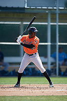 Baltimore Orioles Randolph Gassaway (64) at bat during a minor league Spring Training game against the Tampa Bay Rays on March 29, 2017 at the Buck O'Neil Baseball Complex in Sarasota, Florida.  (Mike Janes/Four Seam Images)