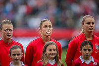 CARSON, CA - FEBRUARY 9: Emily Sonnett #2, Abby Dahlkemper #7 and Lindsey Horan #9 of the United States during a game between Canada and USWNT at Dignity Health Sports Park on February 9, 2020 in Carson, California.