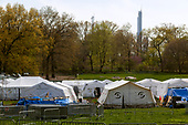 New York, New York<br /> April 25, 2020<br /> Central Park<br /> <br /> A hospital set up in Central Park to handle the overflow of infected patients during the coronavirus pandemic.