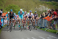 peloton up La Redoute (1650m/9.7%) with also Zdenek Stybar (CZE/Etixx-QuickStep) up front<br /> <br /> 101th Liège-Bastogne-Liège 2015