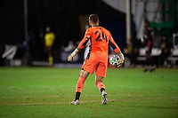 LAKE BUENA VISTA, FL - JULY 27: Stefan Frei #24 of the Seattle Sounders throws the ball during a game between Seattle Sounders FC and Los Angeles FC at ESPN Wide World of Sports on July 27, 2020 in Lake Buena Vista, Florida.