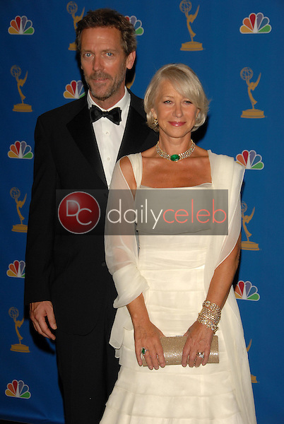 Hugh Laurie and Helen Mirren<br />in the Press Room at the 58th Annual Primetime Emmy Awards. The Shrine Auditorium, Los Angeles, CA. 08-27-06<br />Scott Kirkland/DailyCeleb.com 818-249-4998