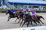 March 27, 2021: Eye of a Jedi #2, ridden by jockey Javier Castellano, wins the Ghostzapper Stakes (Grade 3) on Florida Derby Day at Gulfstream Park in Hallandale Beach, Florida. Liz Lamont/Eclipse Sportswire/CSM