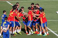 Spanish football team durign the first training of the concentration of Spanish football team at Ciudad del Futbol de Las Rozas before the qualifying for the Russia world cup in 2017 August 29, 2016. (ALTERPHOTOS/Rodrigo Jimenez) /NORTEPHOTO
