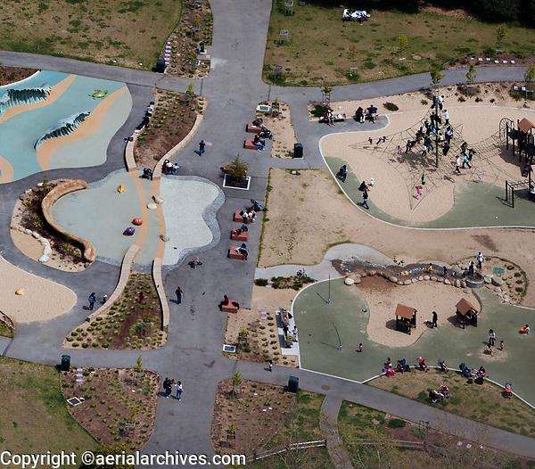 aerial photograph of the Koret Playground ,Golden Gate Park, San Francisco,