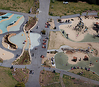 aerial photograph of the Koret Playground ,Golden Gate Park, San Francisco,