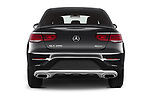 Straight rear view of 2020 Mercedes Benz GLC-Coupe - 5 Door SUV Rear View  stock images