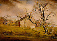 Long Island Farmhouses - by William Sidney Mount, 1862