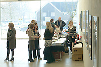 People gathering for tours of the college on Open day at University College for the Creative Arts, Farnham.