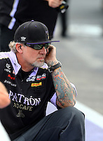 Apr 27, 2014; Baytown, TX, USA; Television personality Jesse James , husband of NHRA funny car driver Alexis DeJoria (not pictured) during the Spring Nationals at Royal Purple Raceway. Mandatory Credit: Mark J. Rebilas-