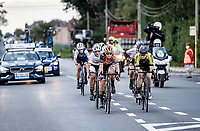leading group  with later race winner Jolien Dhoore (BEL/Boels-Dolmans) in front. <br /> <br /> 9th Gent-Wevelgem in Flanders Fields 2020<br /> Elite Womens Race (1.WWT)<br /> <br /> One Day Race from Ypres (Ieper) to Wevelgem 141km<br /> <br /> ©kramon