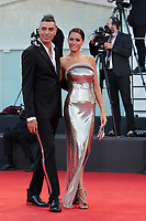 VENICE, ITALY - SEPTEMBER 02: Marracash and Elodie walk the red carpet ahead of the Opening Ceremony and the Lacci red carpet during the 77th Venice Film Festival at on September 02, 2020 in Venice, Italy. PUBLICATIONxNOTxINxUSA Copyright: xAnnalisaxFlori/MediaPunchx <br /> ITALY ONLY