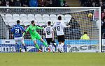 St Mirren v St Johnstone…19.10.19   St Mirren Park   SPFL<br />Danny Mullen scores St Mirren's second goal<br />Picture by Graeme Hart.<br />Copyright Perthshire Picture Agency<br />Tel: 01738 623350  Mobile: 07990 594431