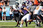 Oklahoma State Cowboys running back Desmond Roland (26) in action during the game between the OSU Cowboys and the TCU Horned Frogs at the Amon G. Carter Stadium in Fort Worth, Texas. TCU defeated OSU 42 to 9.