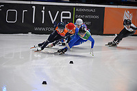 SPEEDSKATING: DORDRECHT: 07-03-2021, ISU World Short Track Speedskating Championships, QF 1000m Ladies, Evgeniya Zakharova (RSU), Xandra Velzeboer (NED), Katrin Manoilova (BUL), Arianna Fontana (ITA), Suzanne Schulting (NED), ©photo Martin de Jong