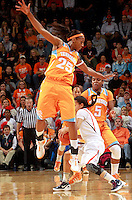 CHARLOTTESVILLE, VA- NOVEMBER 20: Glory Johnson #25 of the Tennessee Lady Volunteers defends China Crosby #1 of the Virginia Cavaliers during the game on November 20, 2011 at the John Paul Jones Arena in Charlottesville, Virginia. Virginia defeated Tennessee in overtime 69-64. (Photo by Andrew Shurtleff/Getty Images) *** Local Caption *** Glory Johnson;China Crosby