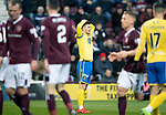 Hearts v St Johnstone…..14.12.19   Tynecastle   SPFL<br />Matty Kennedy holds his head after seeing his effort pushed wide<br />Picture by Graeme Hart.<br />Copyright Perthshire Picture Agency<br />Tel: 01738 623350  Mobile: 07990 594431