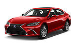 2020 Lexus ES 300h 4 Door Sedan angular front stock photos of front three quarter view