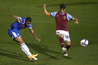 Paris Cowan-Hall of Colchester United goes close during Colchester United vs West Ham United Under-21, EFL Trophy Football at the JobServe Community Stadium on 29th September 2020