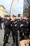 Team Giant-Alpecin at the Team Presentations in Compiegne before the 2015 Paris-Roubaix cycle race held over the cobbled roads of Northern France. 11th April 2015.<br /> Photo: Eoin Clarke www.newsfile.ie