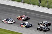 #2: Brad Keselowski, Team Penske, Ford Mustang Miller Lite, #88: Alex Bowman, Hendrick Motorsports, Chevrolet Camaro Axalta and #19: Martin Truex Jr., Joe Gibbs Racing, Toyota Camry Bass Pro Shops