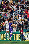 5 October 2019: University of Vermont Catamount Defender Ívar Örn Árnason, a Senior from Akureyri, Iceland, in action against the University at Albany Great Danes, on Virtue Field in Burlington, Vermont. The Catamounts fell to the visiting Danes 3-1 in America East, Division 1 play. Mandatory Credit: Ed Wolfstein Photo *** RAW (NEF) Image File Available ***