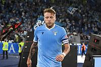 26th September 2021;  Stadio Olimpico, Rome, Italy; Italian Serie A football, SS Lazio versus AS Roma; Ciro Immobile of SS Lazio