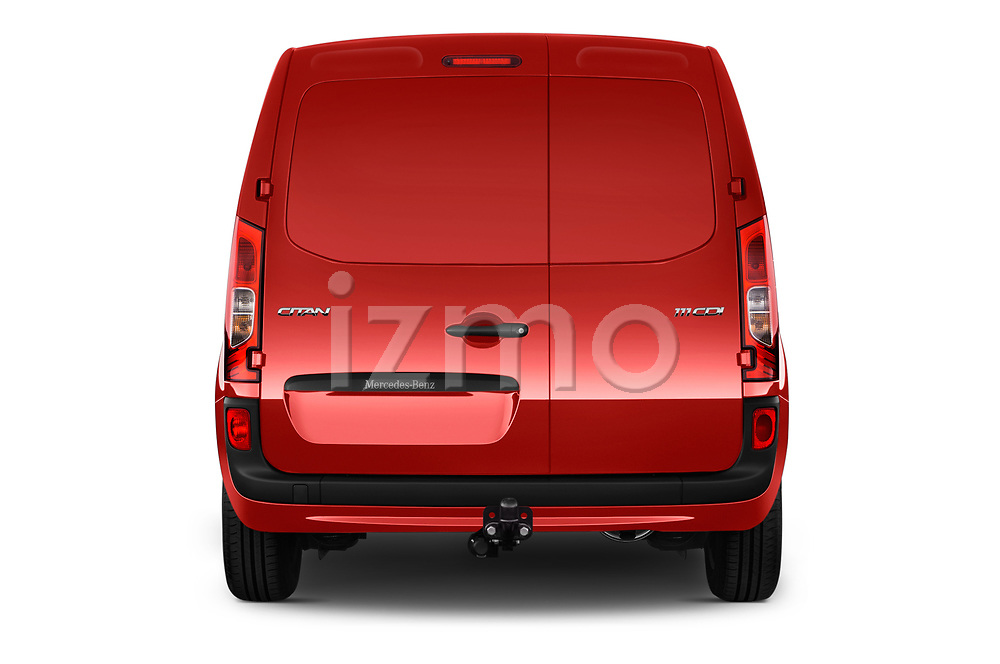 Straight rear view of a 2018 Mercedes Benz Citan Perfect Tool 4 Door Panel Wagon stock images