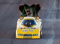 Feb 24, 2018; Chandler, AZ, USA; NHRA funny car driver Jim Campbell during qualifying for the Arizona Nationals at Wild Horse Pass Motorsports Park. Mandatory Credit: Mark J. Rebilas-USA TODAY Sports