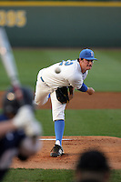 March 19 2010: Gerrit Cole (12) of UCLA pitches against Oral Roberts at Jackie Robinson Stadium in Los Angeles,CA.  Photo by Larry Goren/Four Seam Images