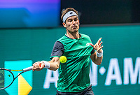 Rotterdam, The Netherlands, 27 Februari 2021, ABNAMRO World Tennis Tournament, Ahoy, Qualyfying match: Norbert Gombos (SCK)<br /> Photo: www.tennisimages.com/henkkoster