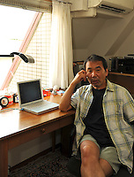 HARUKI MURAKAMI AT HIS OFFICE IN CENTRAL, TOKYO,