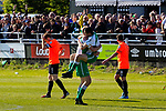 Celebrations by North Ferriby players and fans at full time. Vanarama National League North, Promotion Final, North Ferriby United v AFC Fylde, 14th May 2016.