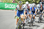 Odd Christian Eiking (NOR) Intermarché-Wanty-Gobert Matériaux in the breakaway during Stage 10 of La Vuelta d'Espana 2021, running 189km from Roquetas de Mar to Rincón de la Victoria, Spain. 24th August 2021.     <br /> Picture: Cxcling   Cyclefile<br /> <br /> All photos usage must carry mandatory copyright credit (© Cyclefile   Cxcling)