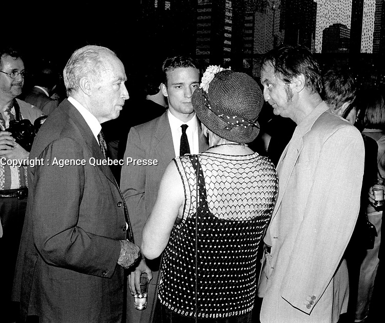September 27, 1998 - Pierre Trudeau attend the opening of the World Film Festival at Place-des-arts