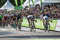 Photo Finish with Phil Bauhaus (GER/Team Sunweb) and Peter Sagan (SVK/Bora Hansgrohe). It was a close one but World Chapmion Peter Sagan was called the winner by the  jury. <br /> <br /> Binckbank Tour 2017 (UCI World Tour)<br /> Stage 1: Breda (NL) > Venray (NL) 169,8km
