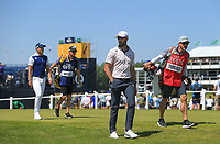 18th July 2021; Royal St Georges Golf Club, Sandwich, Kent, England; The Open Championship,  Golf, Day Four; Cameron Tringale (USA) and Danny Willett (ENG) walk from the first tee
