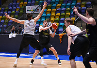 Andreas Obst (Deutschland) spielt einen Pass - 20.02.2018: Deutsche Nationalmannschaft bereitet sich auf das WM-Quali-Spiel gegen Serbien vor, Fraport Arena Frankfurt
