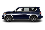 Car driver side profile view of a 2019 Nissan Armada SL 5 Door SUV