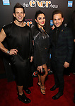 Charlie Williams, Carleigh Bettiol, Michael Fatica Attends the After Party for the Broadway Opening Night  of 'The Cher Show' at Pier 60 on December 3, 2018 in New York City.